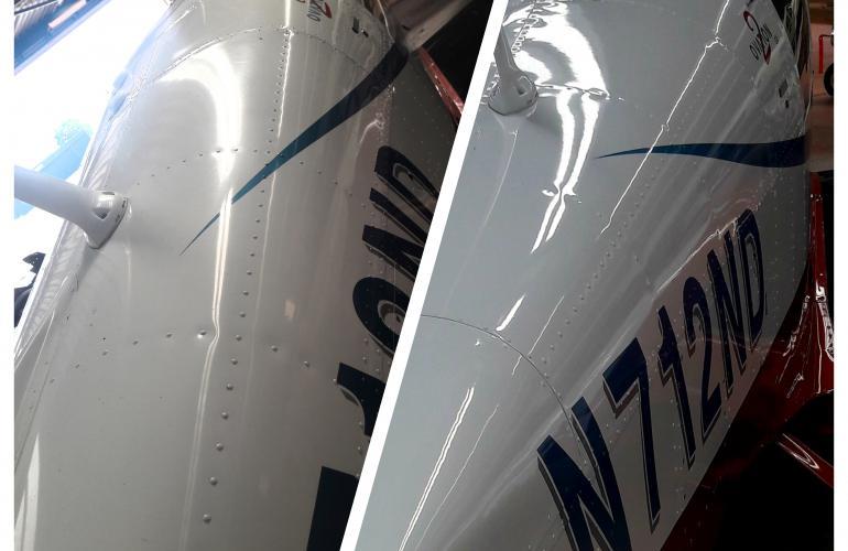 La peinture de votre avion est oxydée, elle est devenue mat et terne avec le temps?
